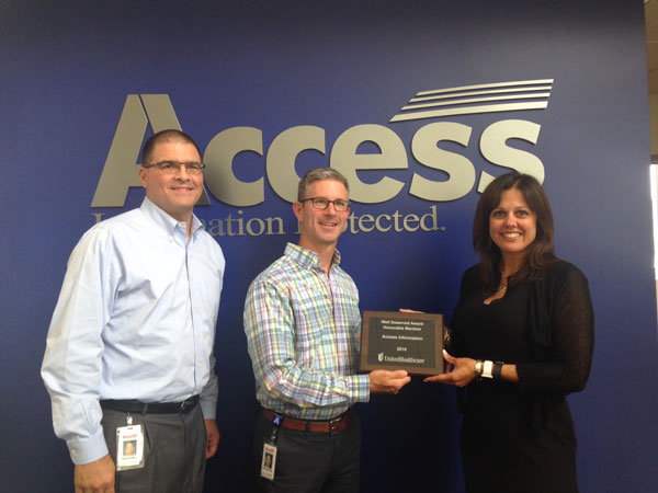 Access Recognized for UnitedHealthcare 2016 Well Deserved Award
